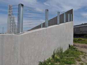 Architectural Cable Railing Used As Retention Wall View 3